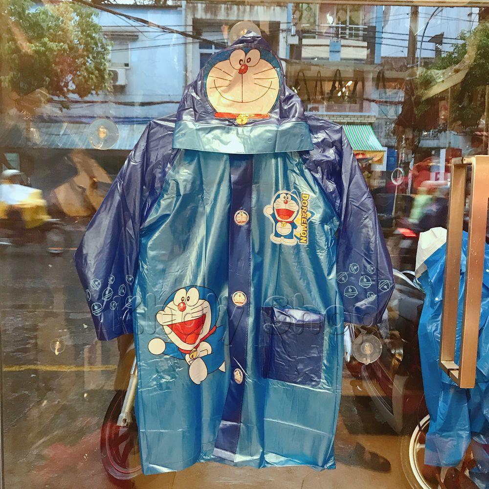 Áo mưa bóng hình Doremon màu xanh dành cho trẻ em , học sinh và các bé có nhiều size (S-M-L-XL-XXL) - 36DO6026138