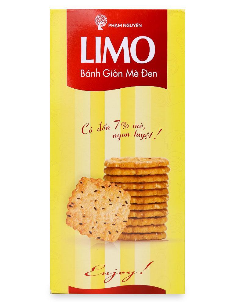 Bánh Limo Giòn Mè Đen Hộp 120G