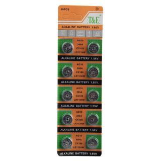 Vỉ 10 viên pin cúc áo Alkaline AG10 LR1130 LR54 189 thumbnail