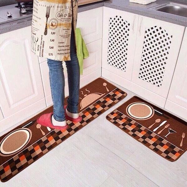 Bộ 2 thảm bếp cao cấp ( hình ngẫu nhiên)