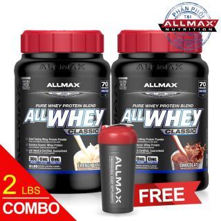 [THỰC PHẨM DINH DƯỠNG THỂ THAO] COMBO 2 Hộp Whey Protein Tăng Cơ Allmax ALLWHEY CLASSIC CHOCOLATE & VANILLA thumbnail