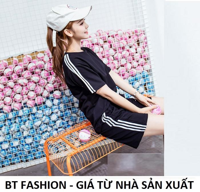 Đồ Bộ Áo Thun Nữ + Quần Đùi Sọt Thun Nữ Thể Thao, Ở Nhà, Đồ Ngủ Thời Trang Hàn Quốc Mới - BT Fashion (DBTE03A-3S)