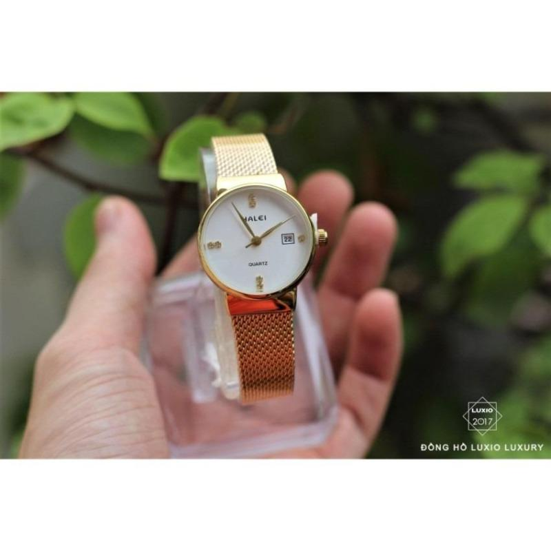 Đồng hồ Nữ Halei dây kim loại dạng nhuyễn cực xinh