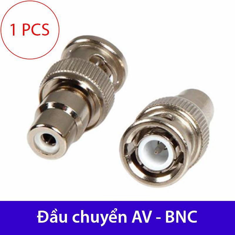 Đầu jack chuyển đổi AV sang BNC | Khẩu chuyển AV cái sang BNC đực - Chuyển cáp AV thành cáp BNC (1 chiếc)