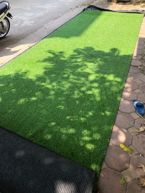 1 mét vuông thảm cỏ nhân tạo độ cao 2cm.