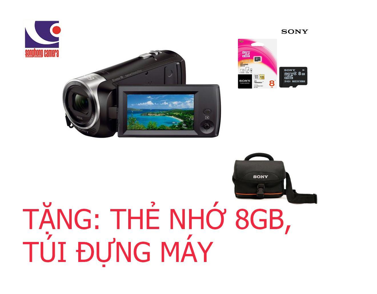 Máy Quay Sony Hdr-Cx405E Tặng Thẻ Nhớ 8Gb, Túi Đựng Máy Hàng Chính Hãng