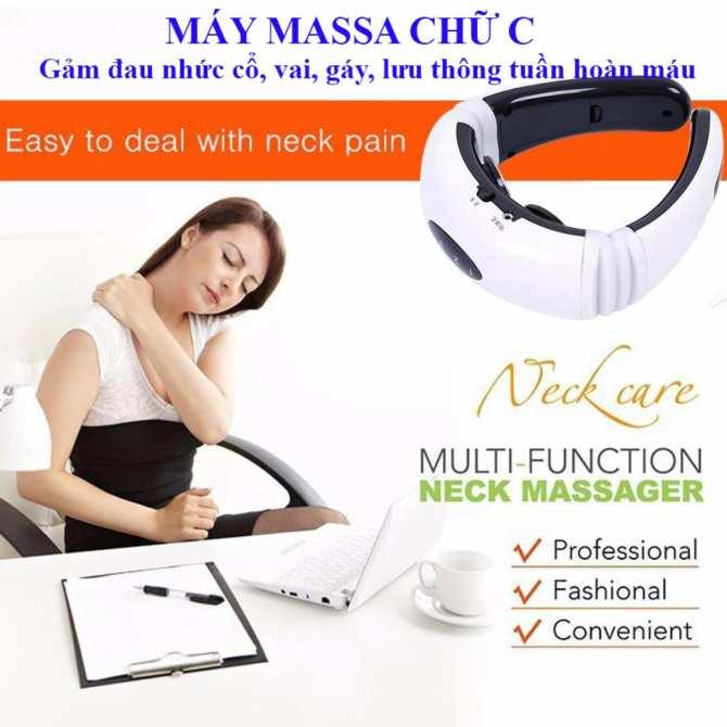 Hình ảnh Massage bung , Giá máy massage bụng - Máy massage cổ chữ C, sản phẩm nhập khẩu Cao Cấp, giảm đau nhức ngay lập tức, Sale 50% M160 - Bh uy tín 1 đổi 1 bởi Smart Buy