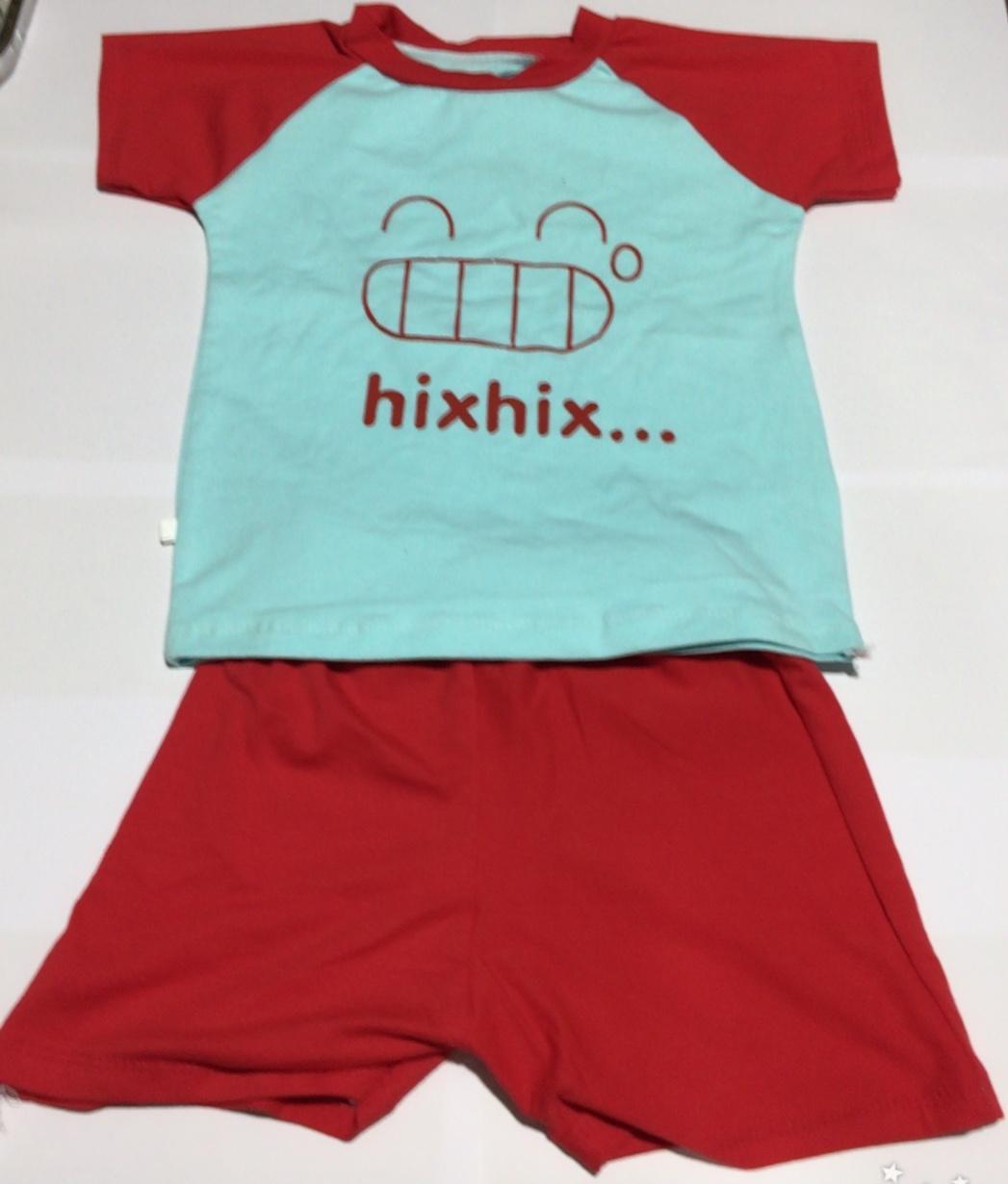 Bộ phông nam cho trẻ em từ 10 đến 17kg (xanh đỏ)