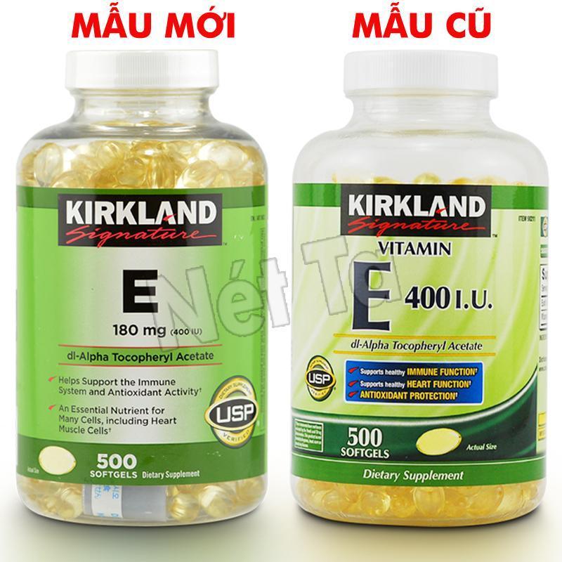Viên uống bổ sung Vitamin E 400 I.U Kirkland Signature 500 viên của Mỹ