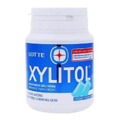 Kẹo cao su không đường Xylitol vị bạc hà cay