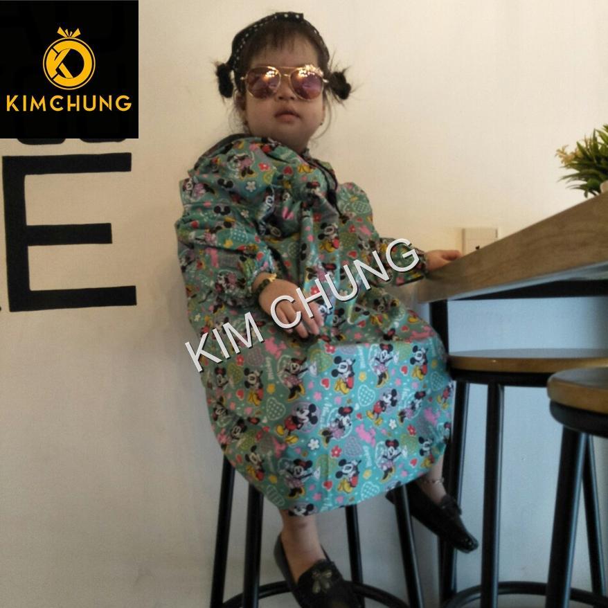 Áo mưa trẻ em vải dù không thấm nước cho bé 2-4 tuổi