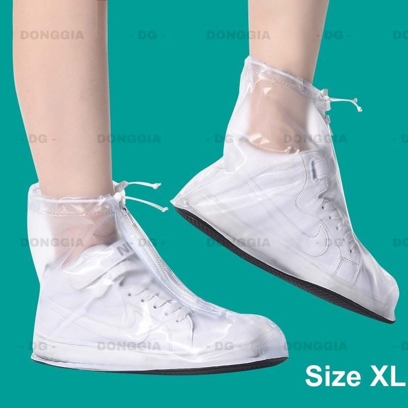 Bọc giày đi mưa thời trang size XL chống thấm nước 100%, chất liệu cao cấp - DONGGIA