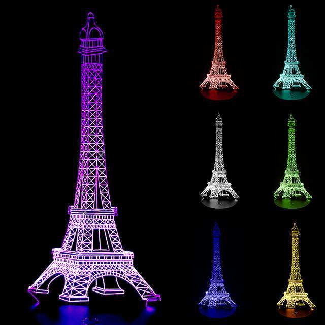 Tháp Eiffel led nhiều màu