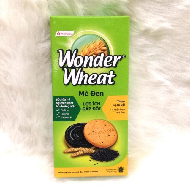 Bánh quy kẹp kem mè đen Wonder Wheat hộp 234g