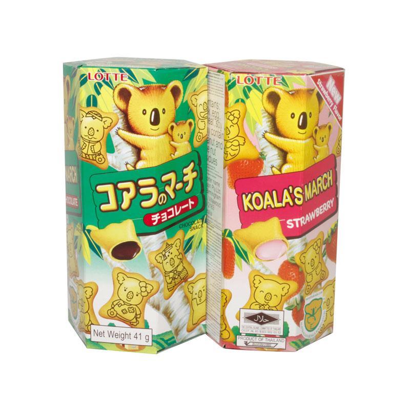 Bánh Koala's March (chocolate/ dâu) hộp giấy Vị sôcôla, dâu ngọt thanh