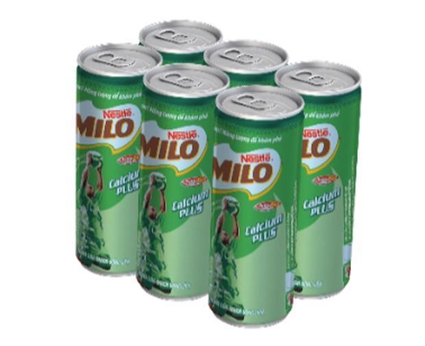 Lốc 6 lon thức uống dinh dưỡng Milo Nescafe (240ml)