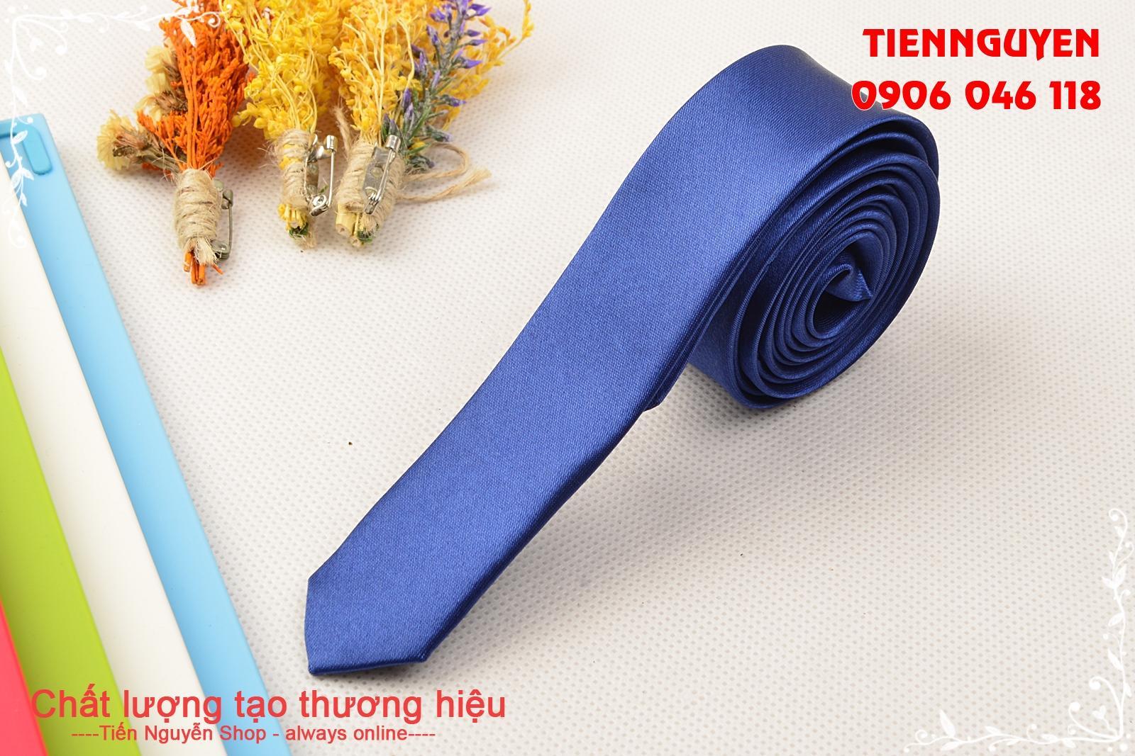 Cà Vạt Lụa Bản Siêu Nhỏ 3Cm - Cà Vạt Hàn Quốc
