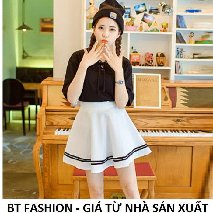 Chân Váy Xòe Lưng Thun Duyên Dáng Thời Trang Hàn Quốc - BT Fashion (VA01E)