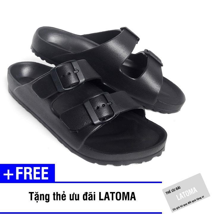 Dép nữ quai ngang thời trang cao cấp Latoma TA1252 (Đen)+ Tặng kèm thẻ ưu đãi Latoma