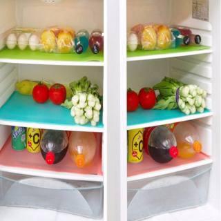 4 Cái/bộ Tủ Lạnh Pad Kháng Khuẩn Chống Bẩn Nấm Mốc Độ Ẩm May Được Pad Tủ Lạnh Thảm Tủ Lạnh Không Thấm Nước