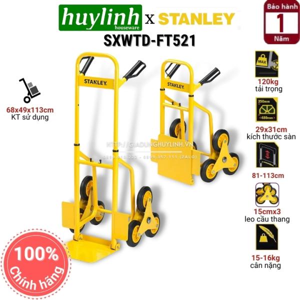 [HCM]Xe kéo đẩy hàng leo cầu thang Stanley SXWTD-FT521 - Tải trọng 120kg