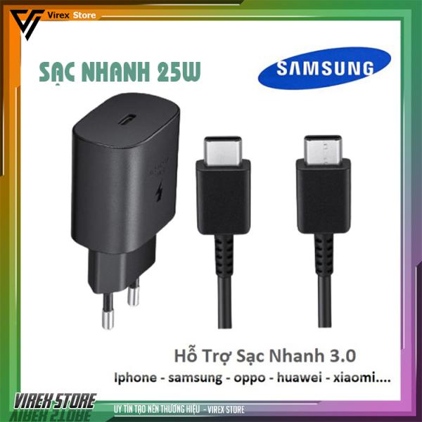 Bộ Sạc Samsung 25W, sạc nhanh Note 8,Note 9 ,S10 Plus ,S20 Ultra , Note 10 Plus , Note 20 Ultra chính hãng