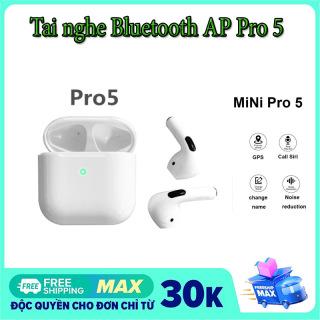 Tai nghe Bluetooth không dây AP Pro 5 tích hợp tất cả điện thoại, tai nghe nhét tai, kiểu dáng thể thao, mini airpods với phiên bản bluetooth 5.0h 5.0, cảm biến vân tay. thumbnail
