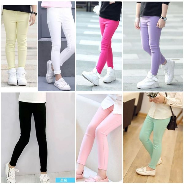 Giá bán ( bổ sung lô mới liên tục)Quần dài kaki thun legging bé gái size nhí đến đại 12-31kg(Sẵn hàng)