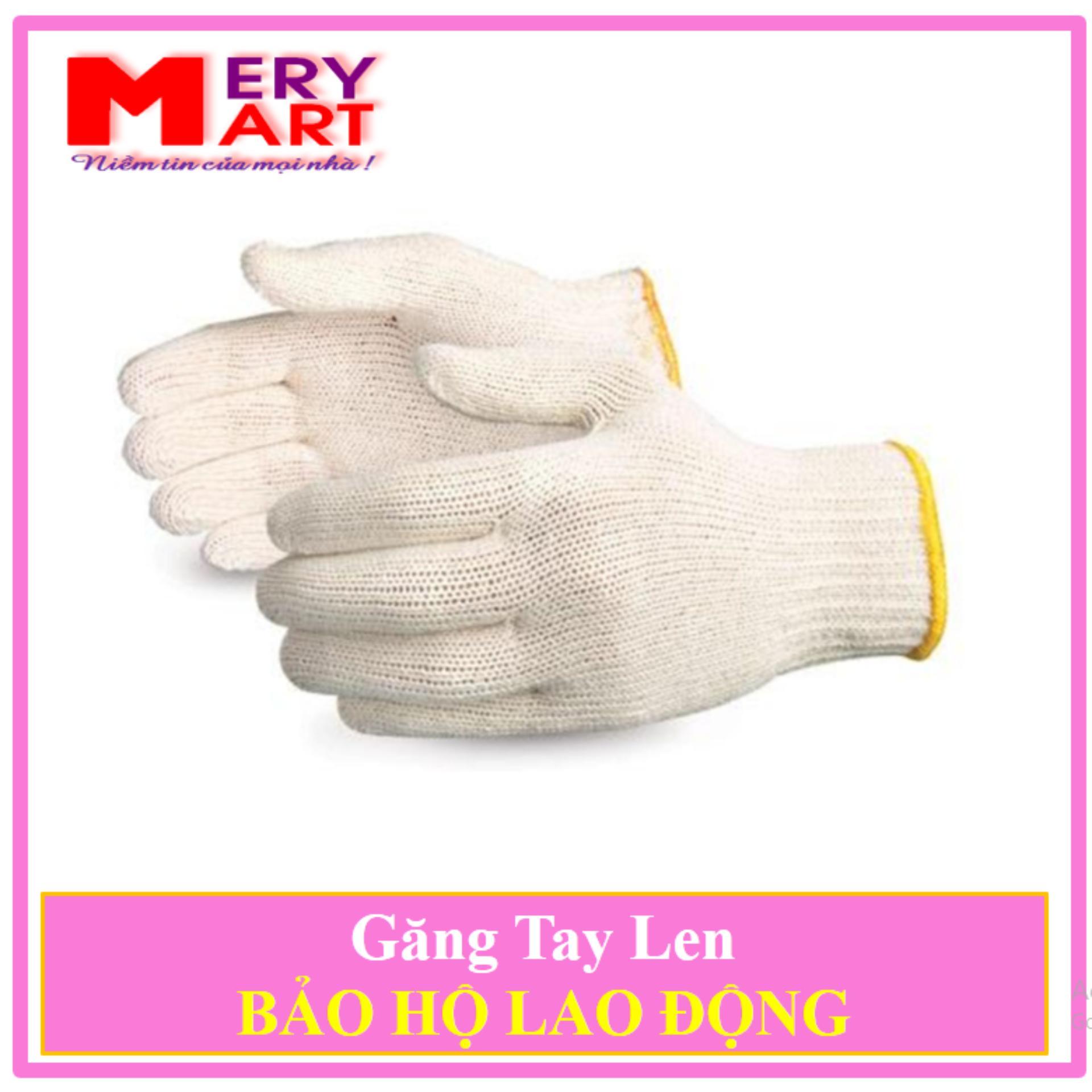 Combo 45 Đôi Găng Tay Len Bảo Hộ Kim 10 Chất Lượng Cao