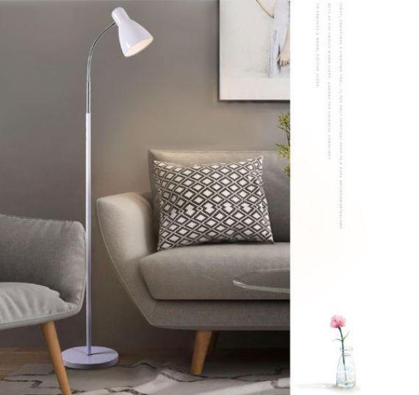 Bảng giá Đèn đứng - đèn đọc sách White Lamp Trắng có kèm bóng LED đui xoáy E27