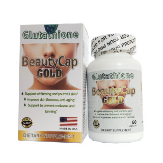 Viên Collagen Glutathione Beautycap Gold trắng da ngừa lão hóa của Mỹ thumbnail