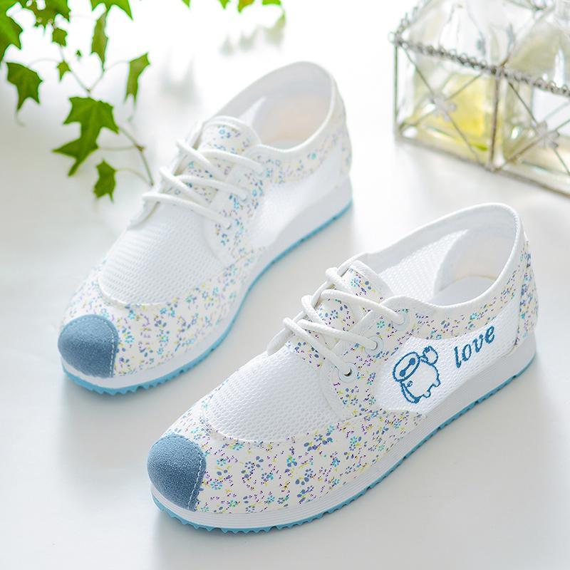 Cô Gái Mùa Hè Vải Bạt Giày Lớn Giày Trẻ Em Sinh Viên Thường Giày Teen Giầy Thể Thao Giày Đá Bóng Size 38 39