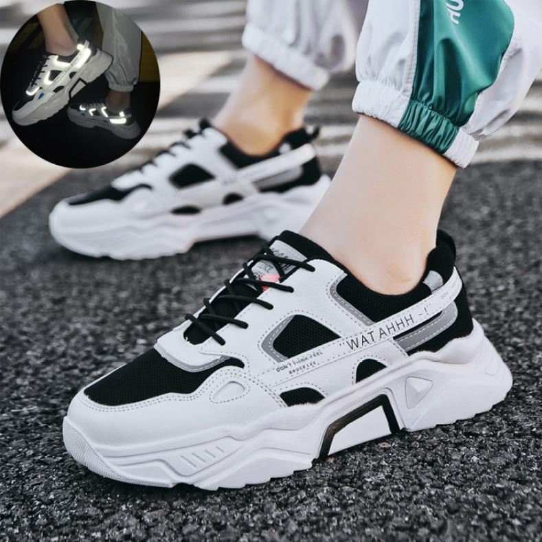 Giày Thể Thao Nam Sneaker Tăng 5Cm Chiều Cao, Đế Tổng Hợp Độ Bền Cao, Kiểu Dáng Cá Tính Cực Ngầu, Xu Hướng 2020 Taiki  - GN90 giá rẻ