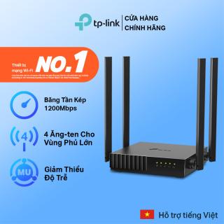 [Hàng hot mới về ]TP-Link Router wifi băng tần kép vùng phủ rộng Chuẩn AC 1200Mbps Archer C54 - Hãng phân phối chính thức Modem wifi TP Link Cục phát wifi TPLink thumbnail