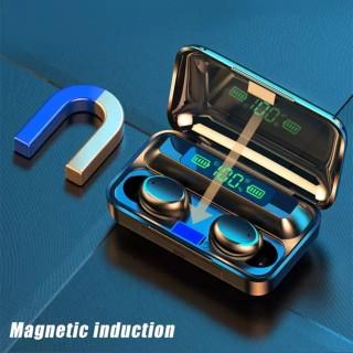 Tai nghe bluetooth BTH F9 5 tai nghe không dây Bluetooth 5.0 Pro, âm thanh 9D, chống nước, chống ồn Tai nghe bluetooth pin 3500 mAh kiêm sạc dự phòng cho điện thoại 5