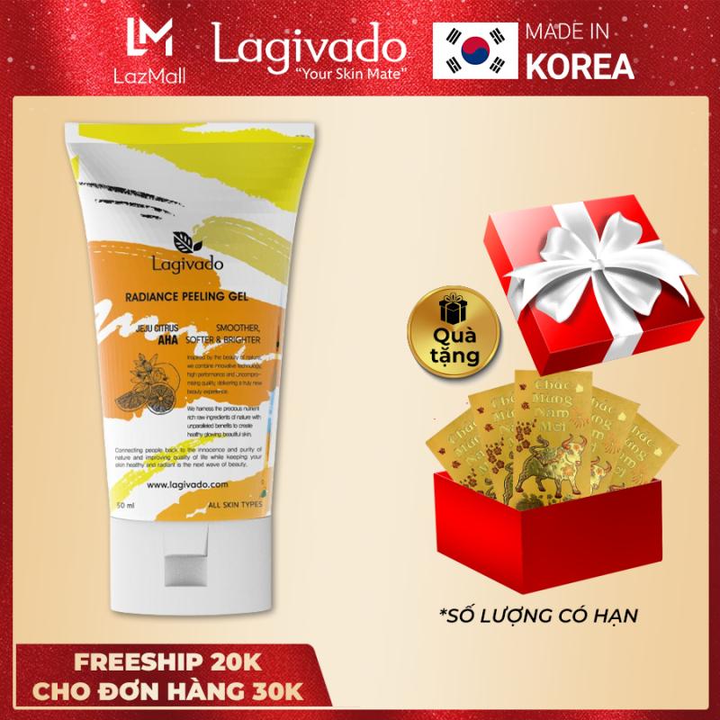 Tẩy tế bào chết Hàn Quốc Lagivado làm sạch tế bào chết da mặt, body nhẹ nhàng, giúp da sáng mịn đều màu Radiance Peeling Gel 50ml giá rẻ