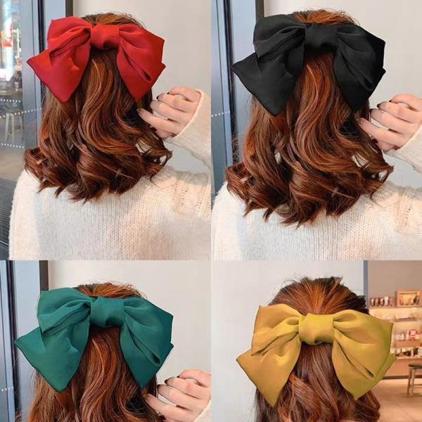 Kẹp tóc nữ nơ lụa Hàn Quốc xinh xăn DC07 - Dây buộc tóc nữ nơ to xinh xắn