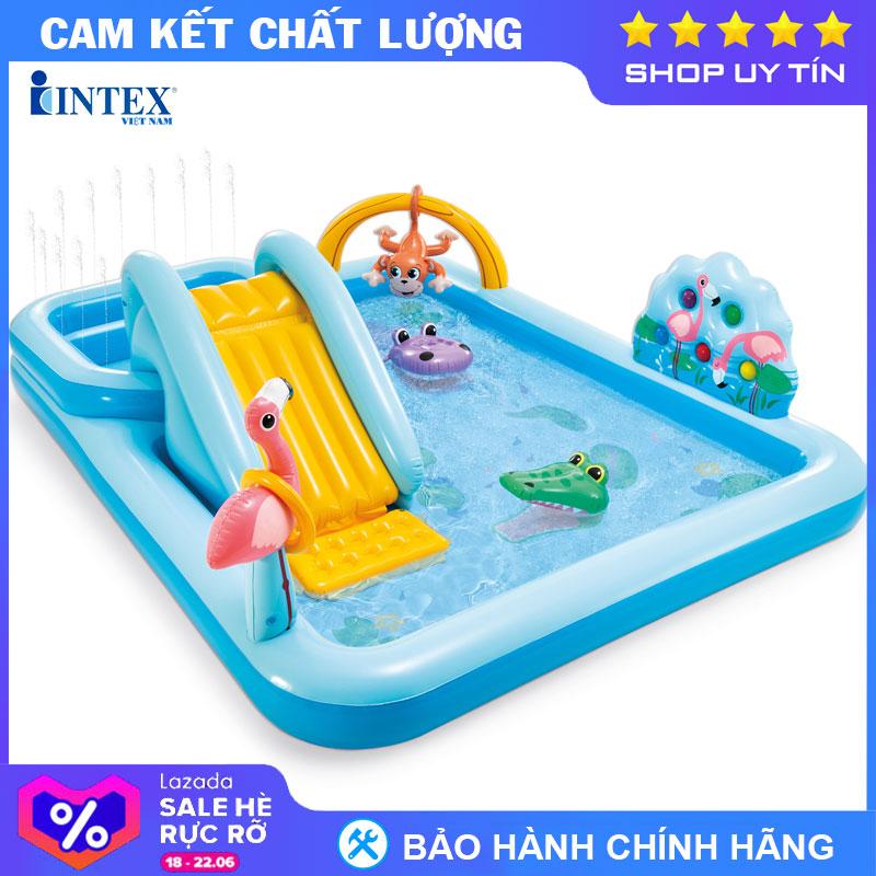 Mã Coupon Bể Bơi Phao Cầu Trượt Có Vòi Phun Mưa INTEX 57161 - Hồ Bơi Cho Bé Mini, Bể Bơi Phao Trẻ Em