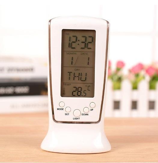 Đồng Hồ Điện Tử Để Bàn Đa Năng Có Báo Thức, Lịch, Đèn Led - SQUARE CLOCK DS-510