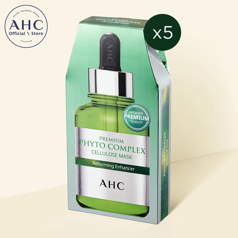 Bộ mặt nạ Cellulose Hàn Quốc cao cấp AHC Phyto Complex (5 miếng x 27ml)