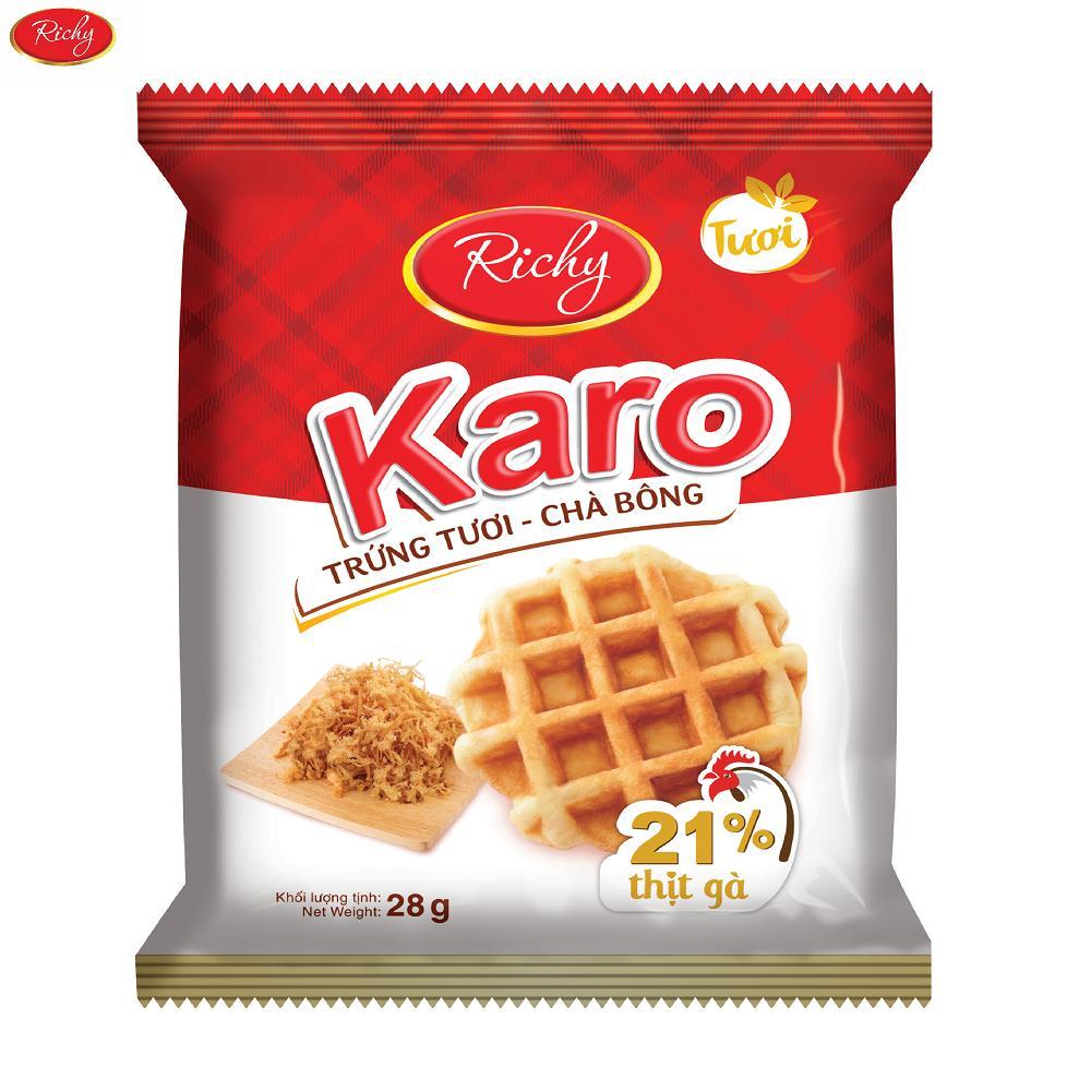Mã Giảm Giá Bịch 24 Bánh Trứng Chà Bông KARO Richy (26g/gói)