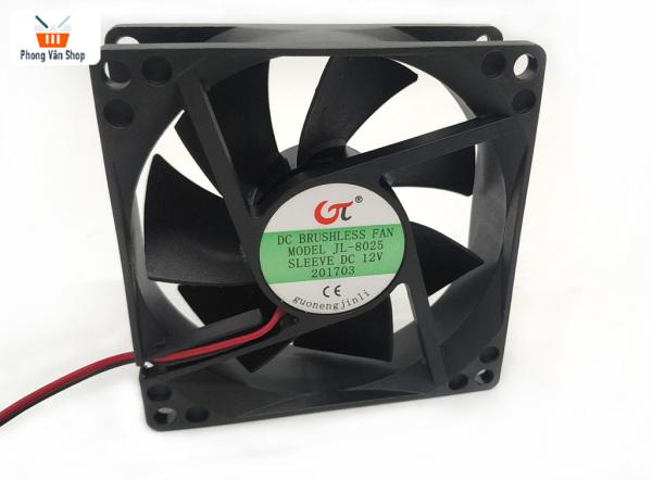 Quạt tản nhiệt 12v 0.15A - 80x80x25mm - mới