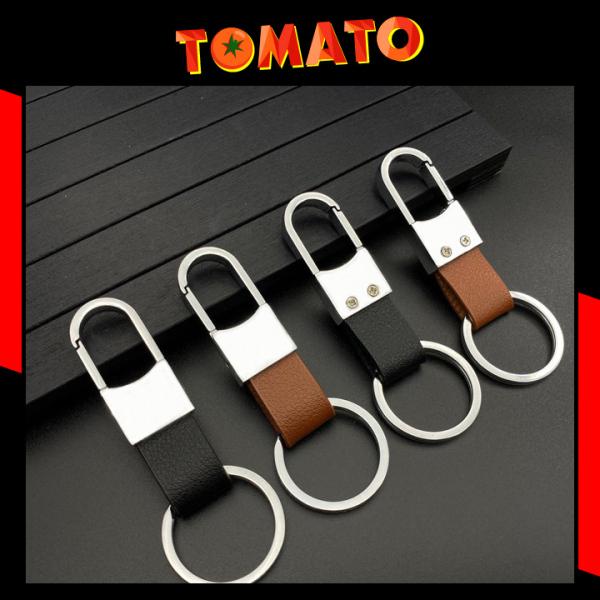 Móc Khóa Dây Da Treo Quần Inox Thép Cao Cấp Không Gỉ - Phụ Kiện Tomato