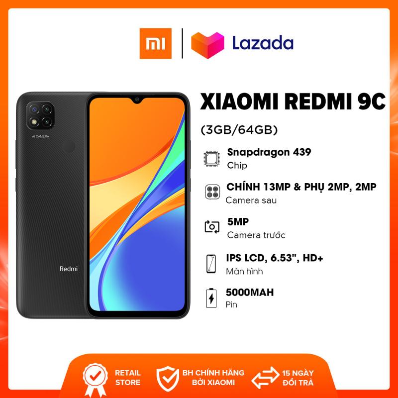 Điện thoại Xiaomi Redmi 9C (3GB/64GB) - Chip MediaTek Helio G35 8 nhân Màn hình 6.53 HD+ Dung lượng Pin 5,000mAH  Bảo hành chính hãng 18 tháng