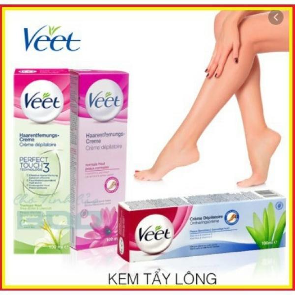 HATOLA- Kem tẩy lông triệt lông Veet Pháp 100ml hiệu quả kem dưỡng, son môi, bộ trang điểm, nhũ mắt, phấn phủ,kẻ mắt - KTL