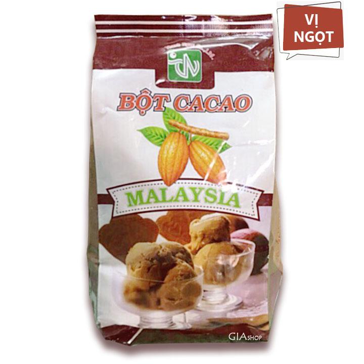 Bột cacao ngọt Malaysia gói 500g - pha chế, pha sữa, trà sữa, làm bánh - Gia store