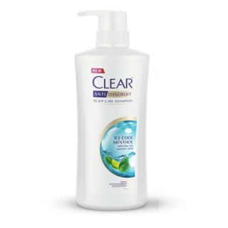 Dầu gội Clear bạc hà 480ml Thái Lan mát lạnh sạch gàu thumbnail