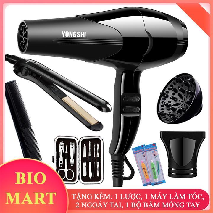 [TẶNG KÈM 4 MÓN] - Máy sấy tóc tạo kiểu YONGSHI + Tặng máy làm tóc lược, bộ bấm móng tay, ngoáy tai, lược - BIO06 cao cấp