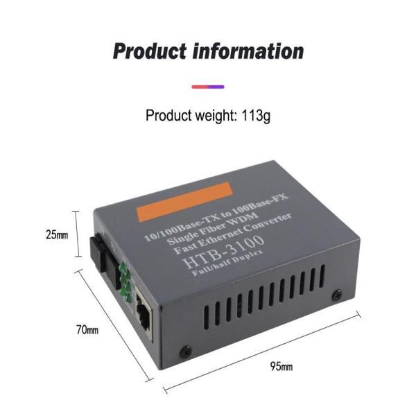 Giá NetLink HTB-3100A/B 100Mbps Media Converter 1FO 1LAN - Bộ Chuyển Đổi Quang Điện 1 Sợi 1 Cổng LAN