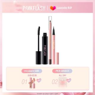 PINKFLASH Eyes Makeup Set Eyeliner Eyebrow Pencil Mascara Black Daily Use Waterproof Sweat Proof Long-lasting Durable thumbnail